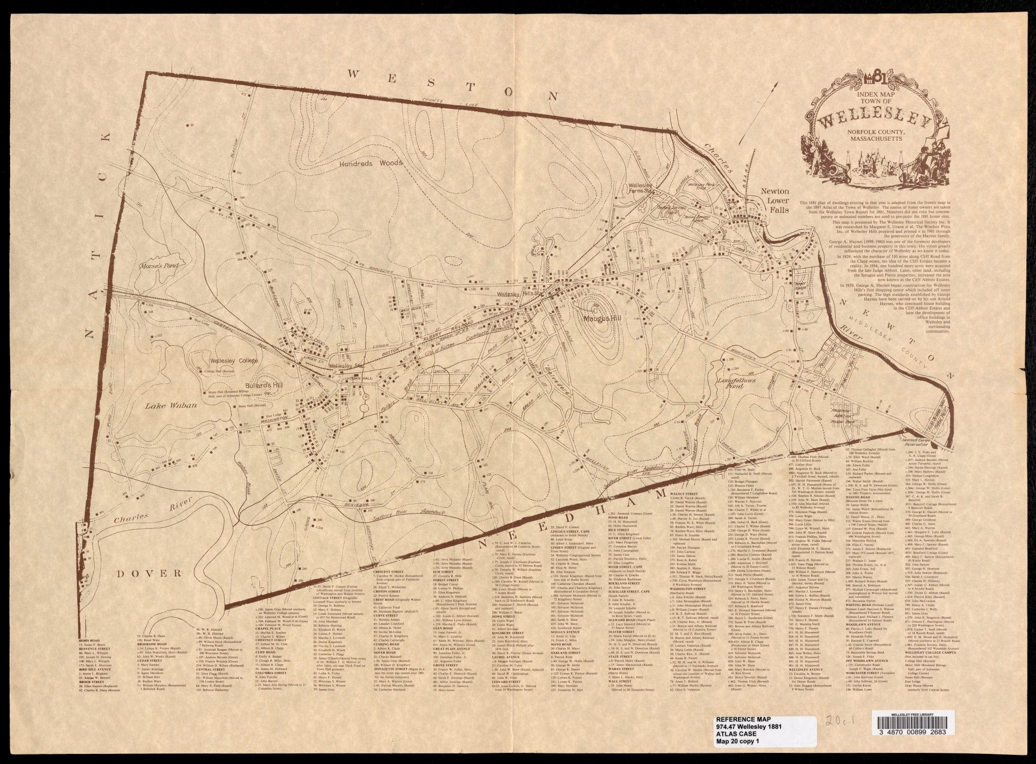 Wellesley map