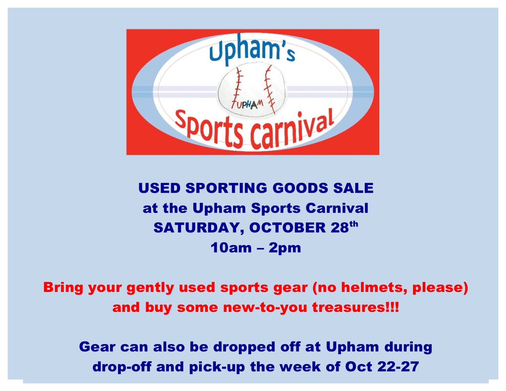 Upham sports carnival