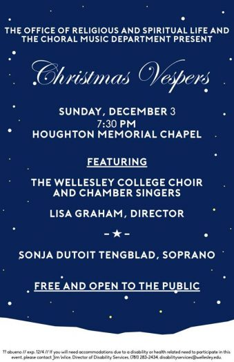 Christmas Vespers, Wellesley College