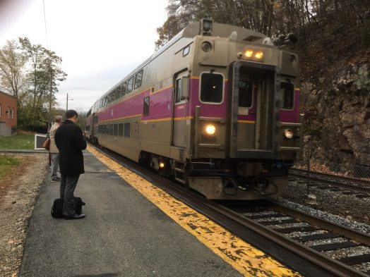 Wellesley Hills commuter rail train mbta
