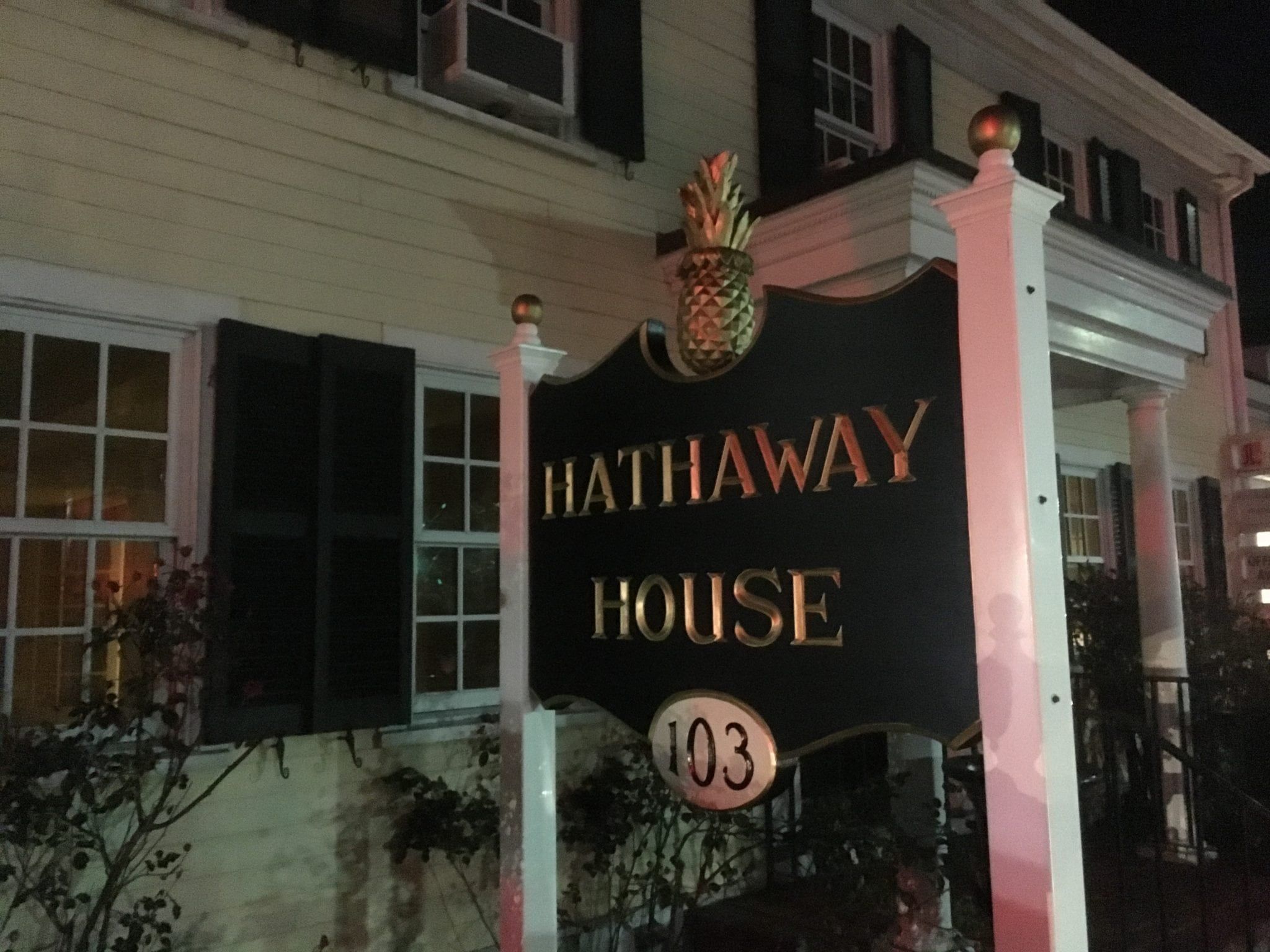 Hathaway House sign, Wellesley Square