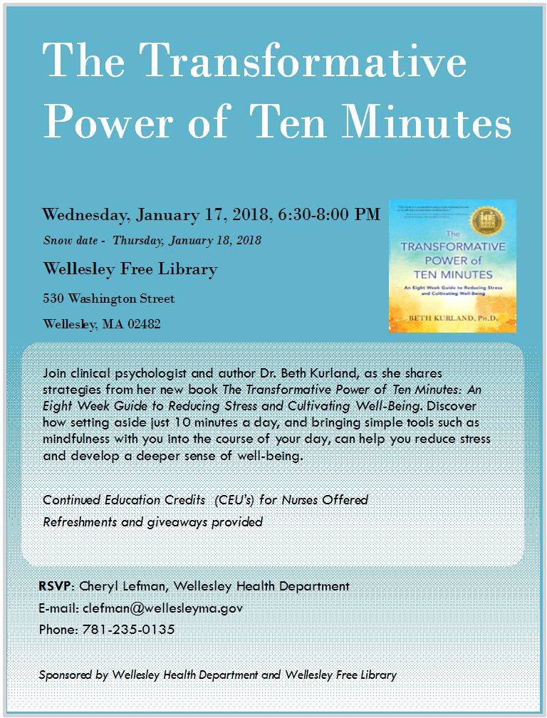 Power of Ten Minutes, Wellesley
