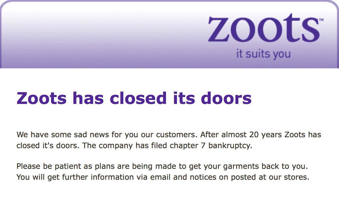 zoots message