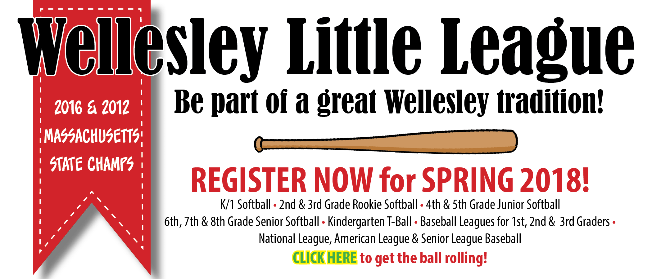 Wellesley Little League registration