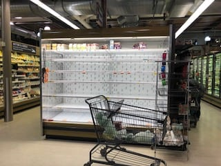 Whole Foods Wellesley pre-snowstorm 2018