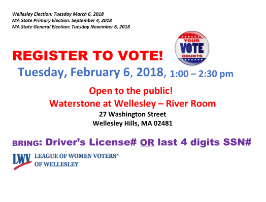 register to vote, wellesley