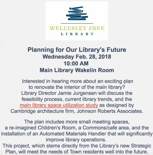 Wellesley Free Library meeting
