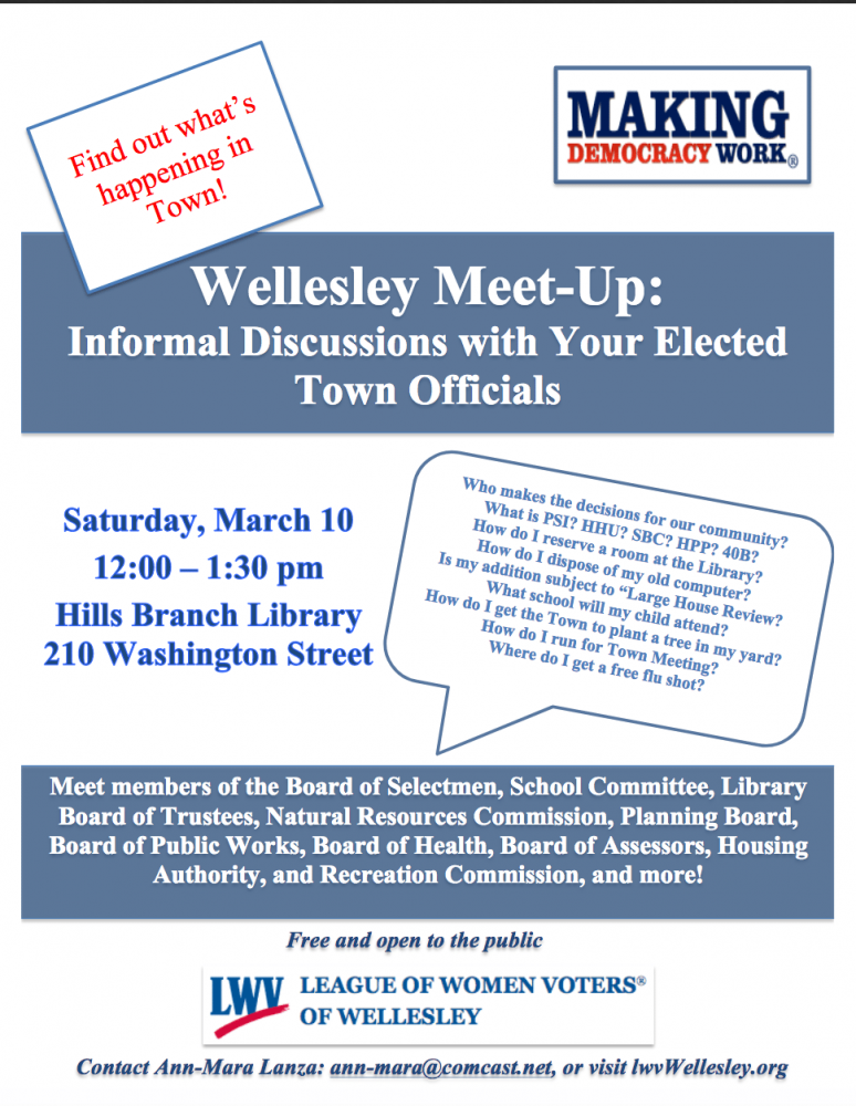 Wellesley candidate meetup