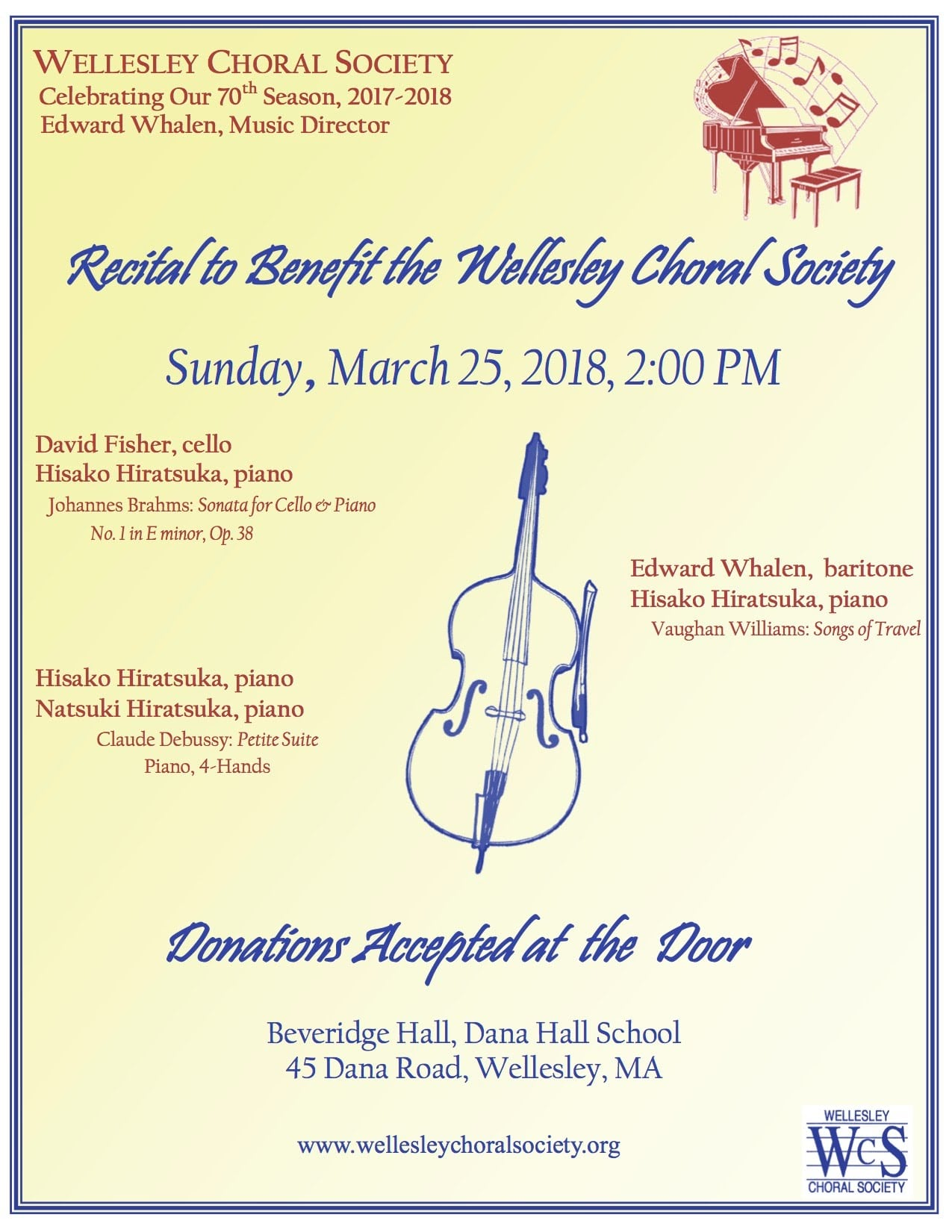 Wellesley Choral Society concert