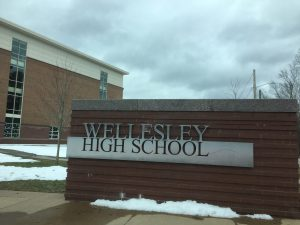 Wellesley High School, snow, winter