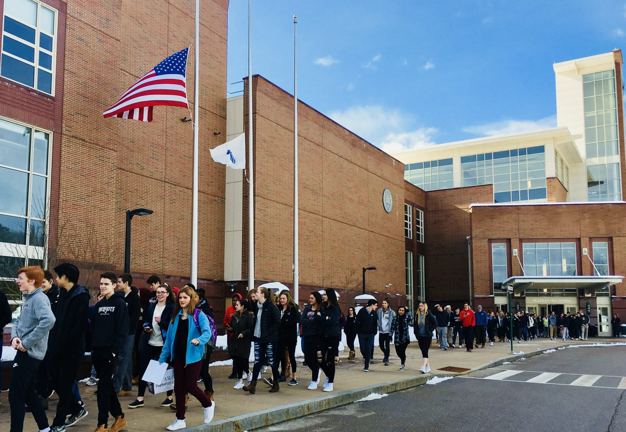 Wellesley High School students rise up and demand change at peaceful ...