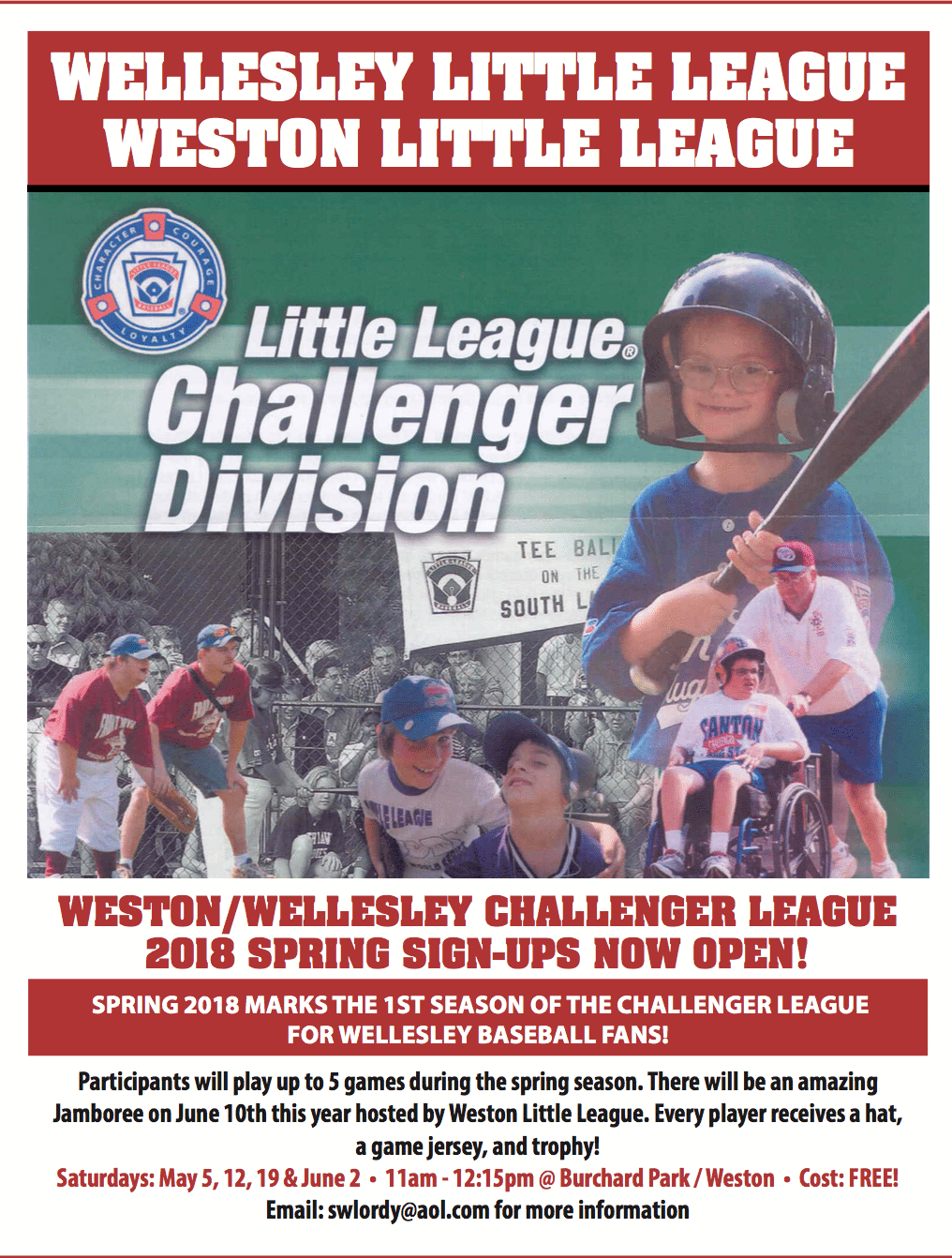 wellesley little league challenger baseball