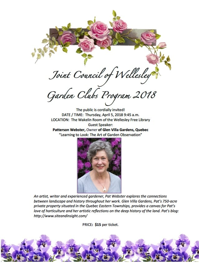 Wellesley gardening event
