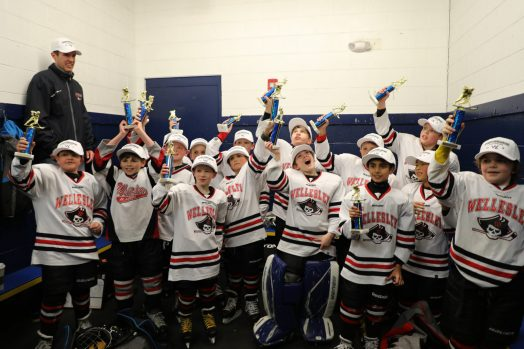 Wellesley's Squirt B2 ice hockey team