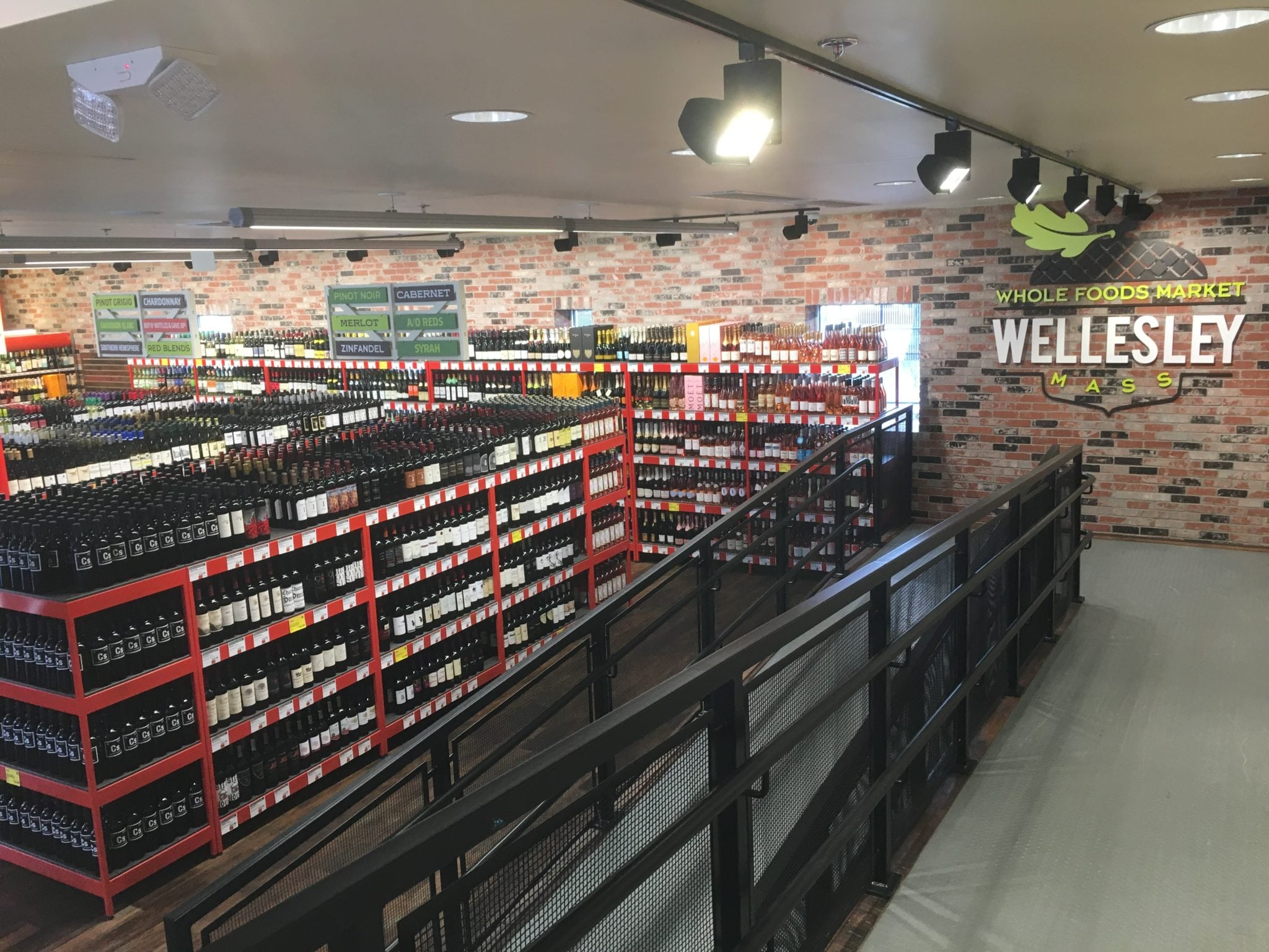 Whole Foods Wellesley beer and wine