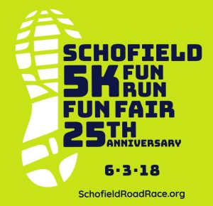 Wellesley Schofield 5K fun run 25th Anniv logo