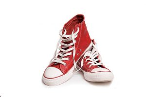 Rose Sannicandro Red Sneakers award