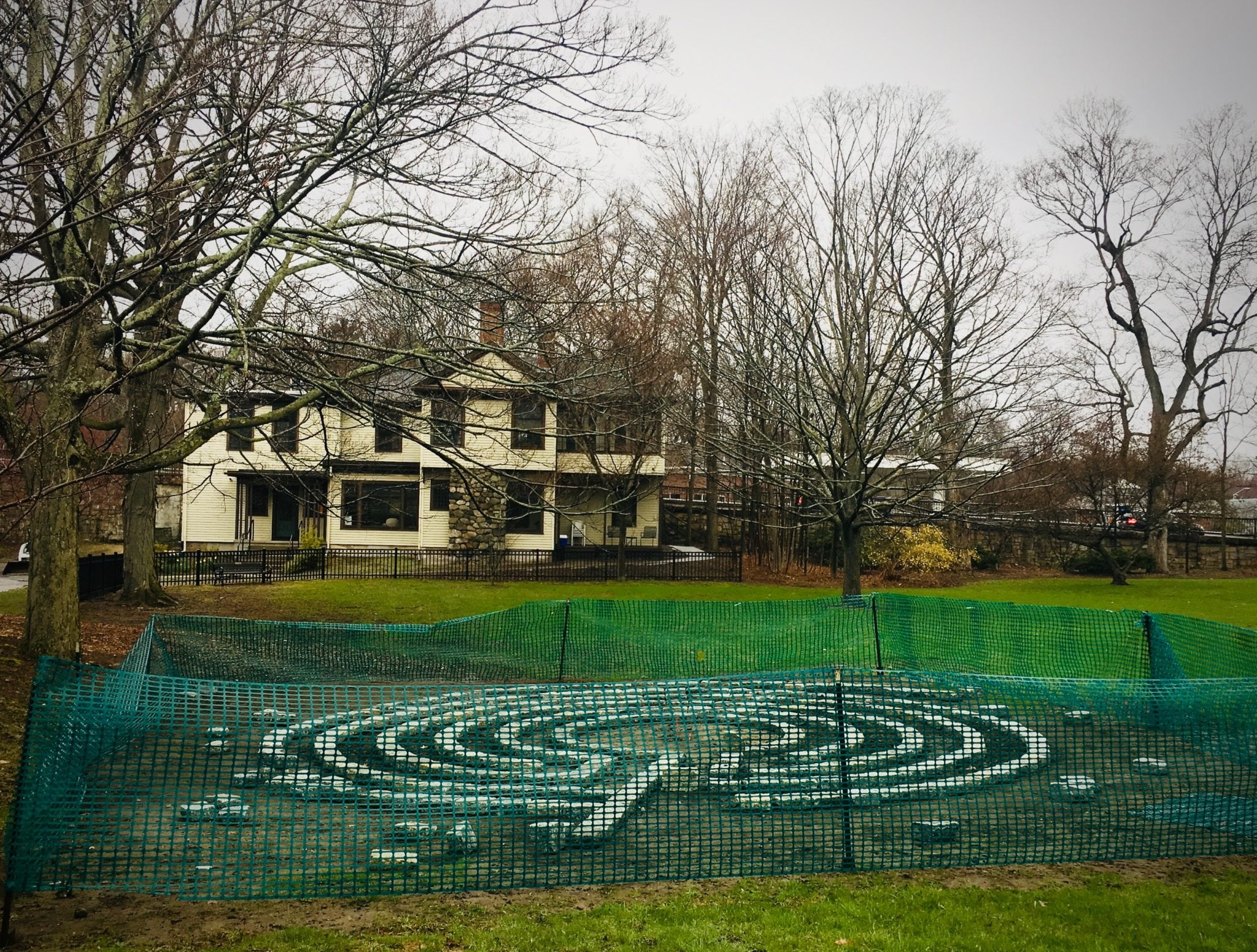 Labyrinth, Wellesley Hills Clock Tower