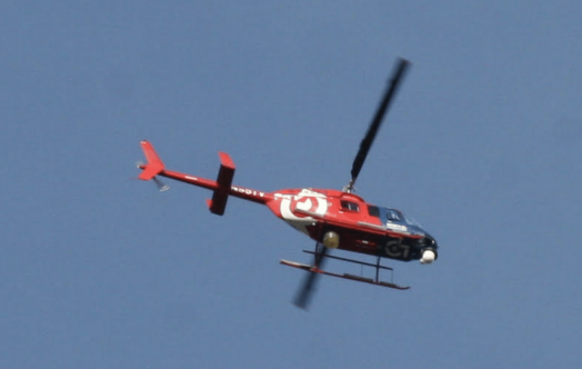 helicopter over Rte. 9