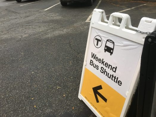mbta shuttle sign