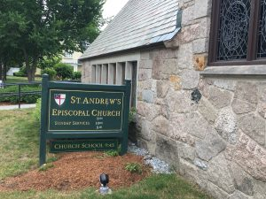 St. Andrew's Sign, Wellesley