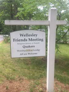 Wellesley Friends Sign, Wellesley