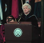 Mrs. Barbara Bush, Wellesley College