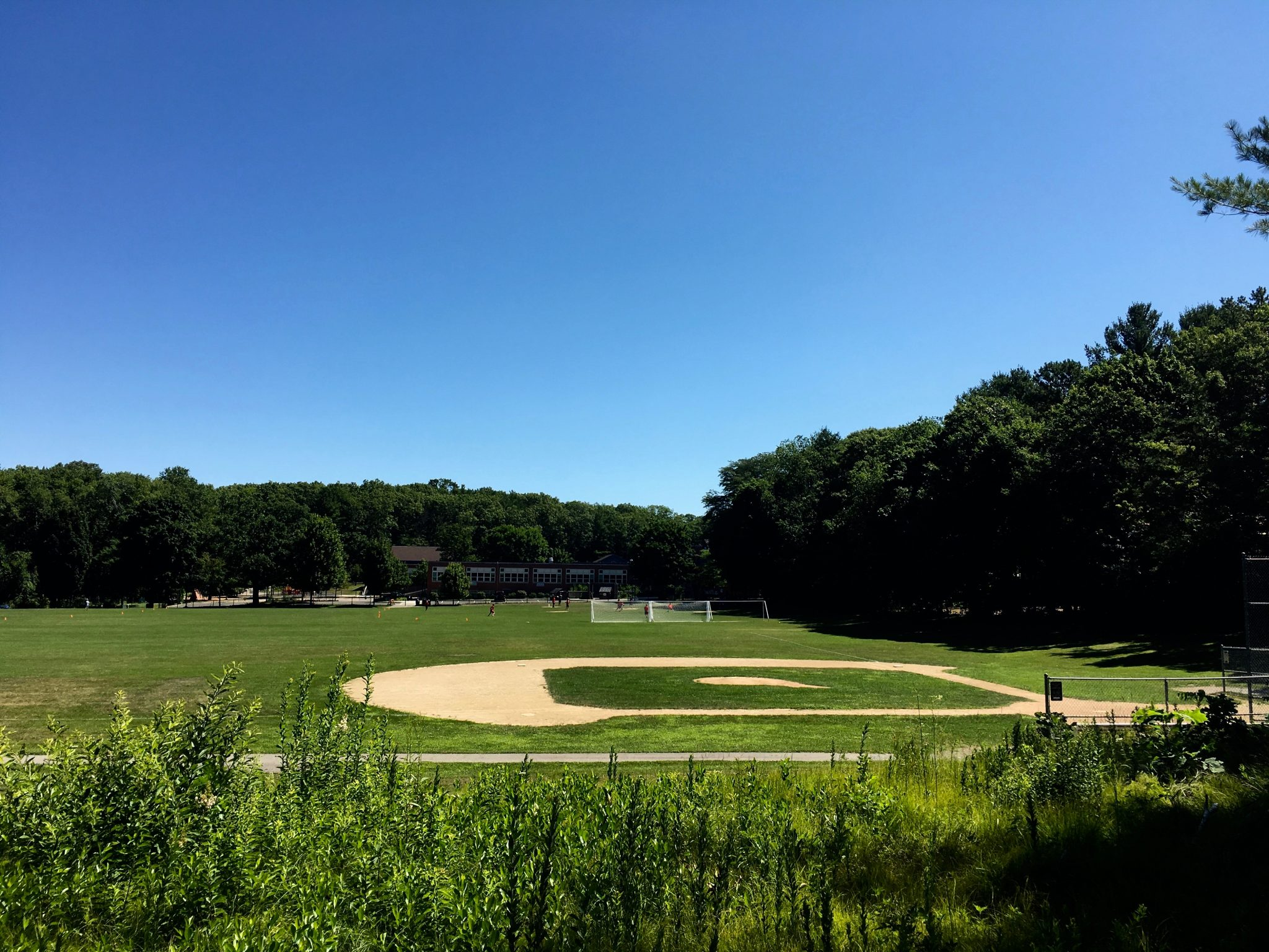 Kelly Field, baseball diamond, Wellesley