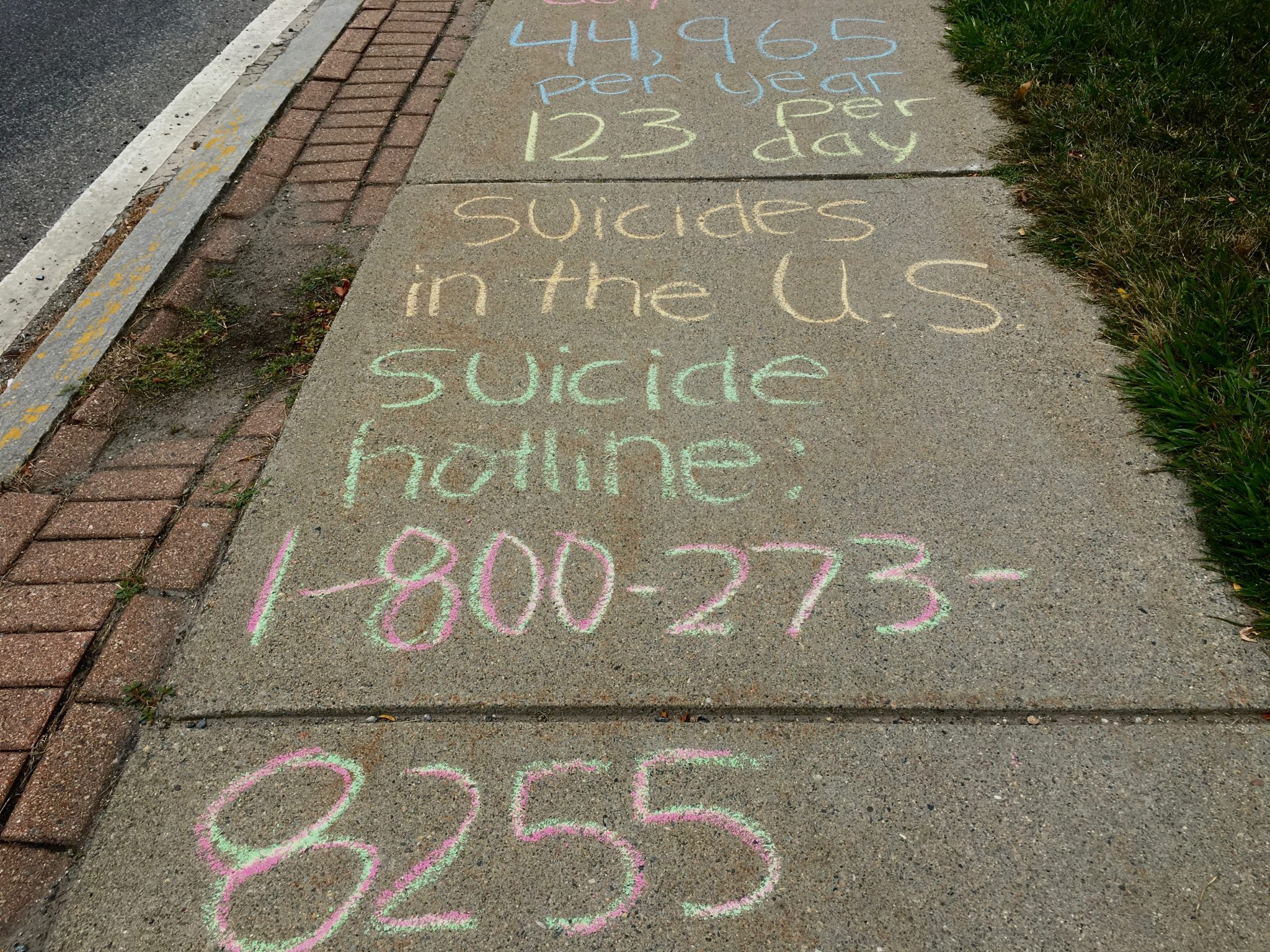 Suicide awareness, Wellesley