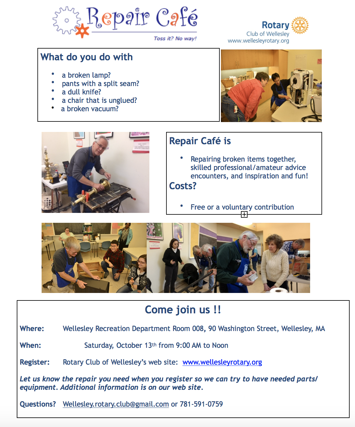 Repair Cafe flyer