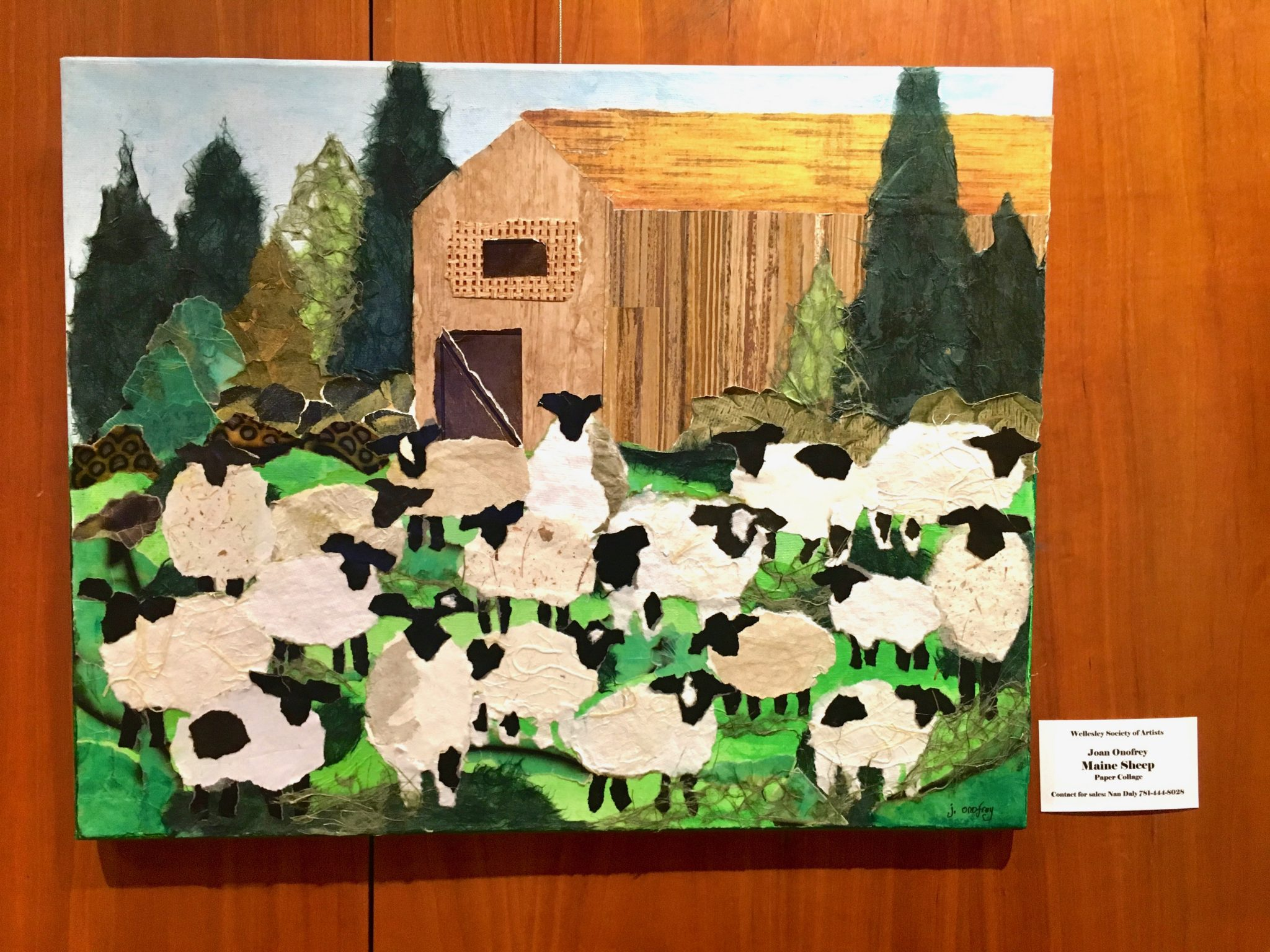 Maine Sheep, by Joan Onofrey
