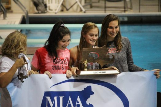 miaa swimming championship meet wellesley high swimmers