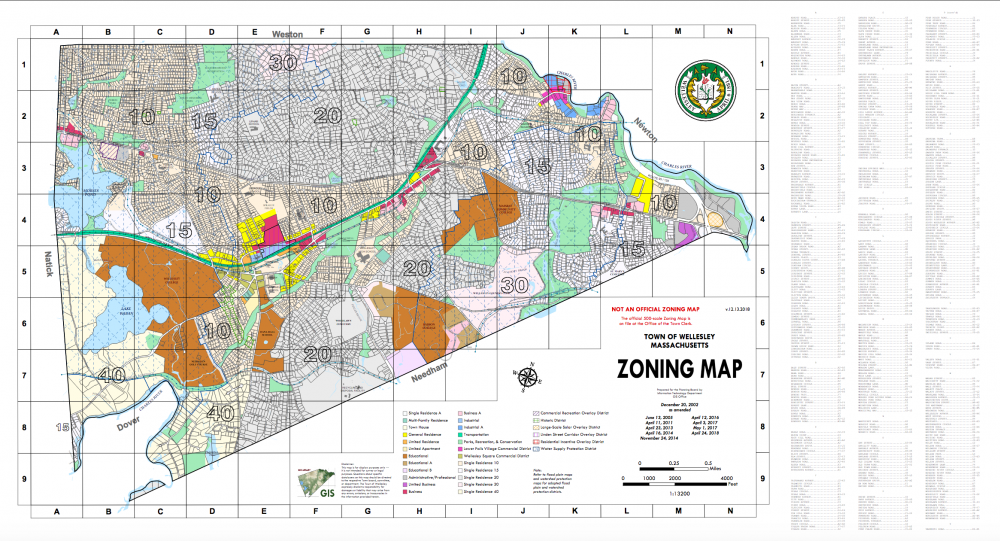 wellesley zoning map