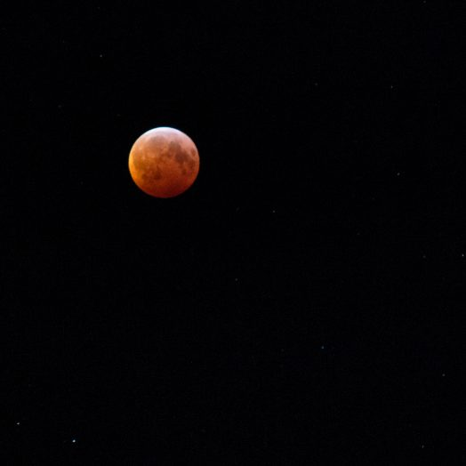 Blood moon over Wellesley