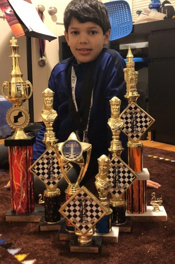 Kiran trophies chess