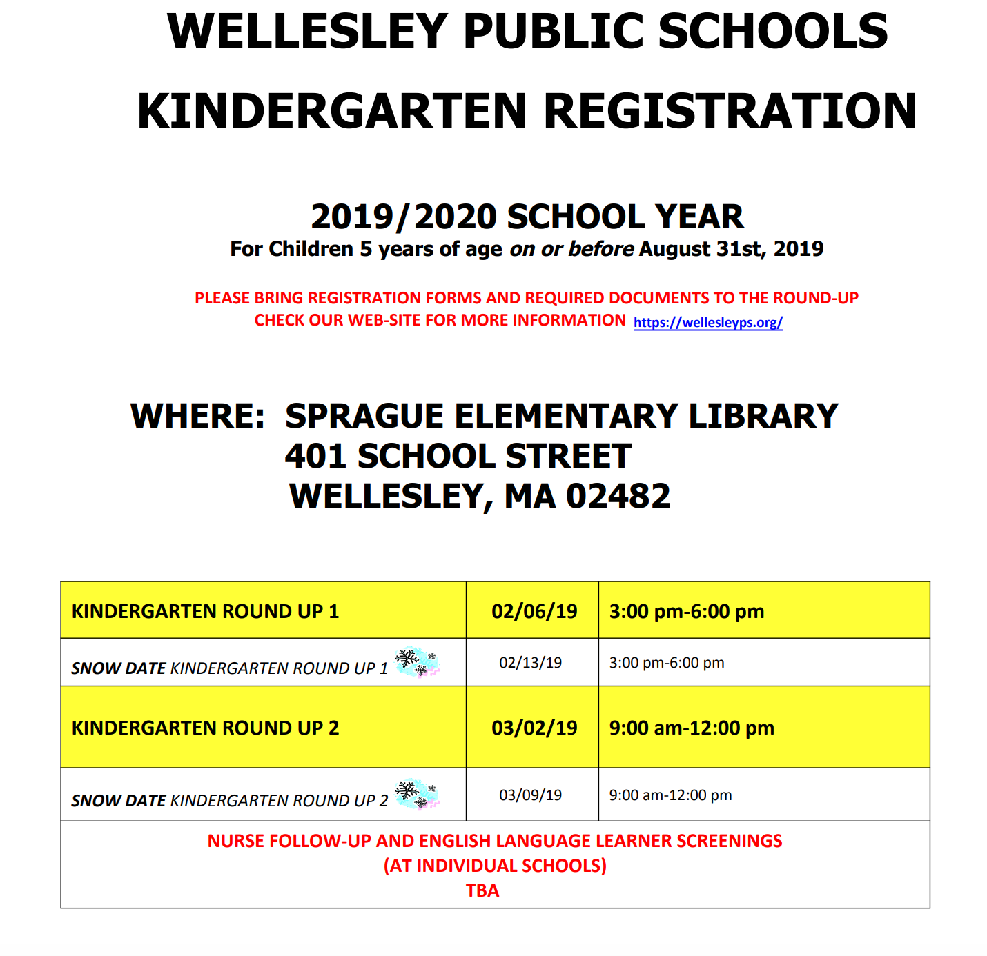 Wellesley kindergarten