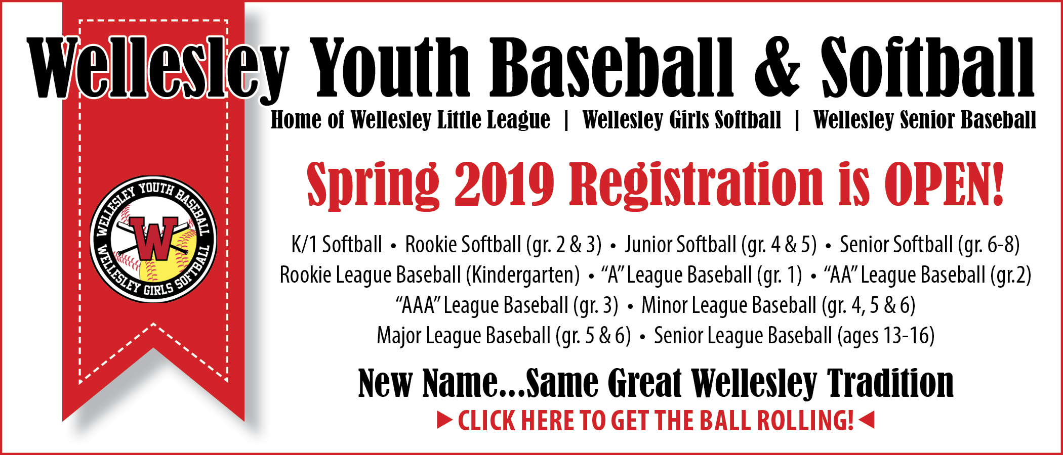 Wellesley youth baseball, softball