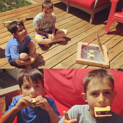 kids cooking with solar