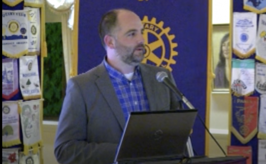 michael zehner speaking at rotary