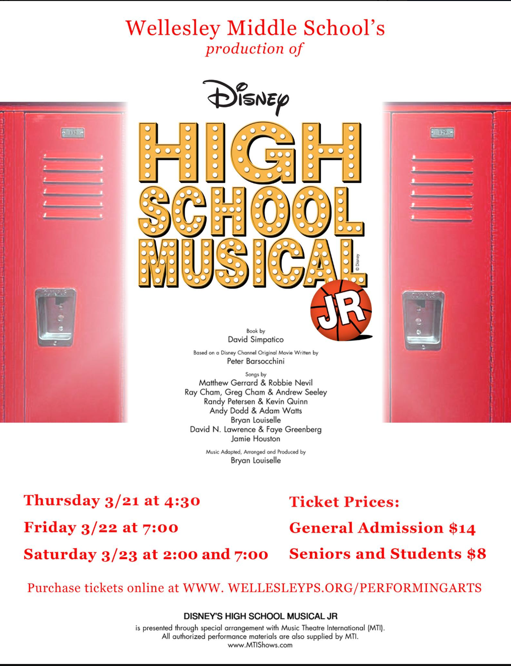 Wellesley Middle School, High School Musical