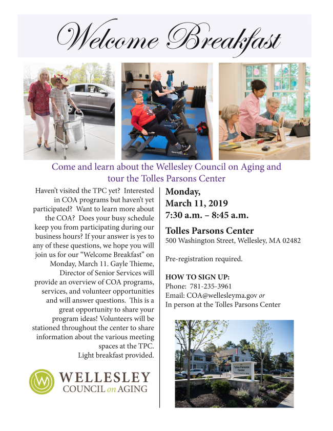 Council on Aging, Wellesley