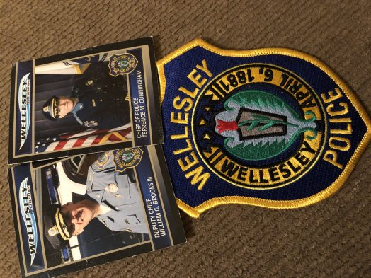 wellesley police cards and patch