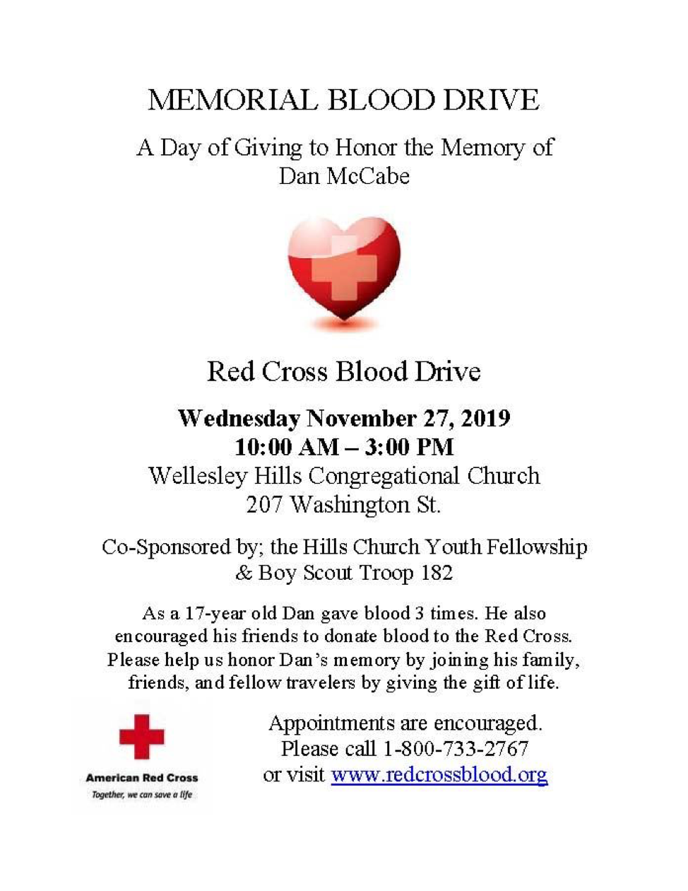 Wellesley Blood Drive