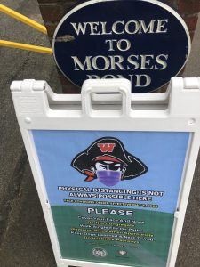 Morses Pond mask sign