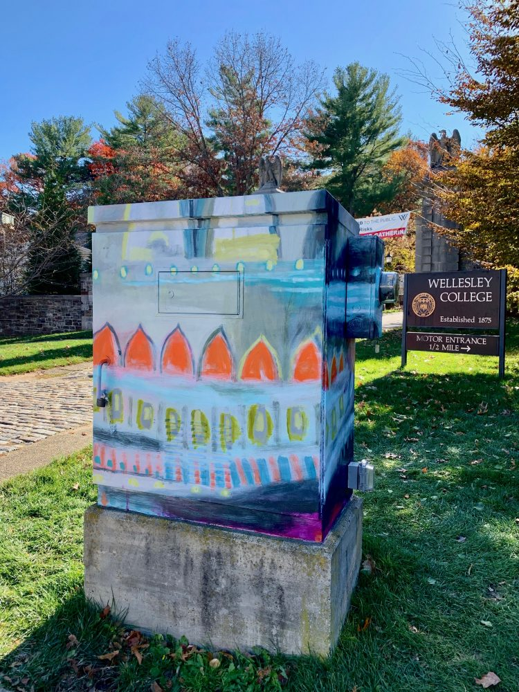 Wellesley electrical box, Carolyn Mackin
