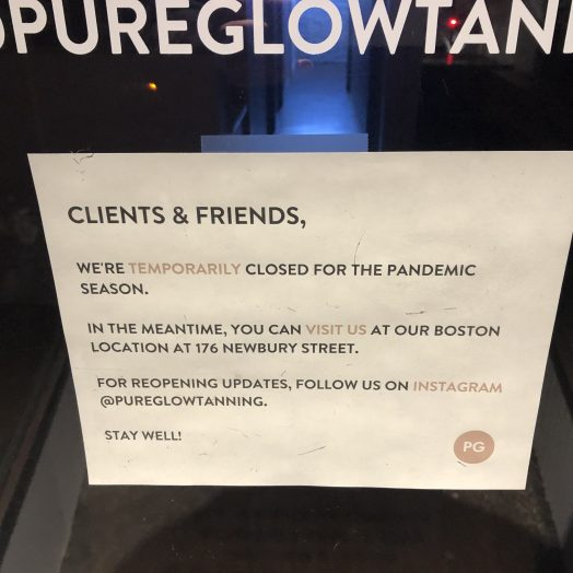 pure glow sign