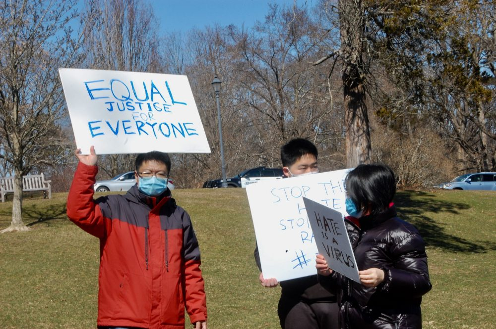 rally against anti-Asian hate crimes & raciscm