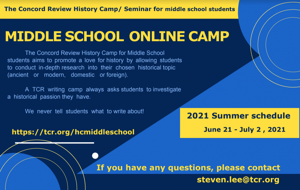 The Concord Review History Camp