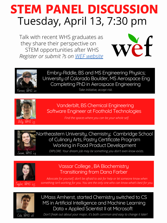 Wellesley, STEM panel discussion