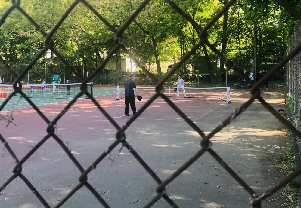 pickleball at Schofield Elementary School courts